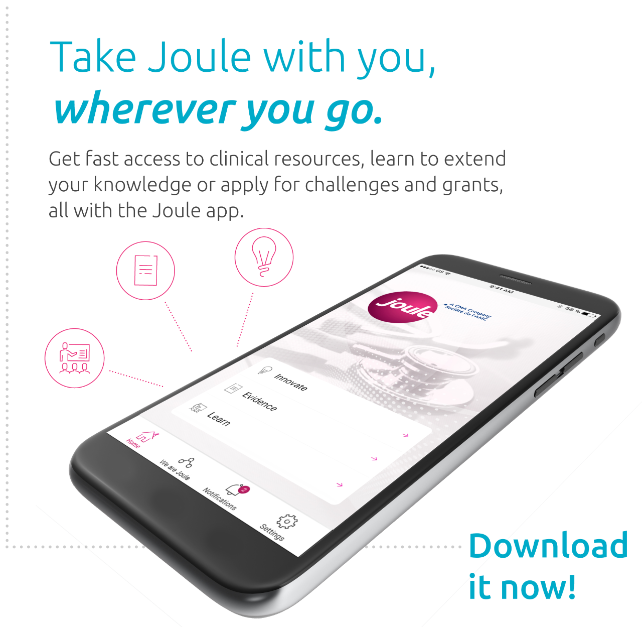 Take Joule learning with you, wherever you go. Extend your knowledge, read a leadership tip, use the course selection tool, all with the Joule app.